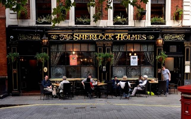 The Famous Sherlock Holmes Pub in Westminster in Central London