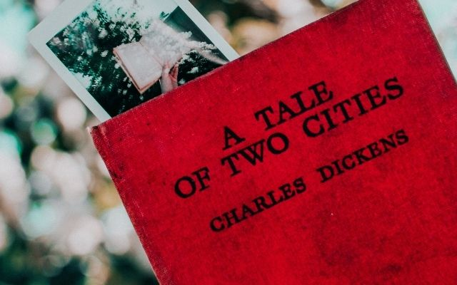Charles Dickens A Tale of two Cities Book with a Red Cover