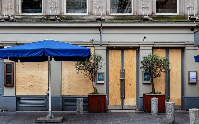 Londons Pubs Boarded Up Pub